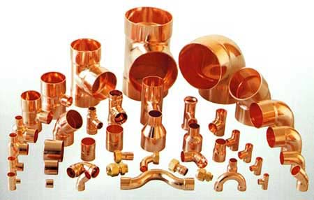 Copper cu ni 90 10 cu ni 70 30 pipe fitting piping material for Copper water pipe fittings types